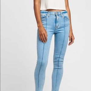 Hudson jeans high rise barbara pintuck skinny